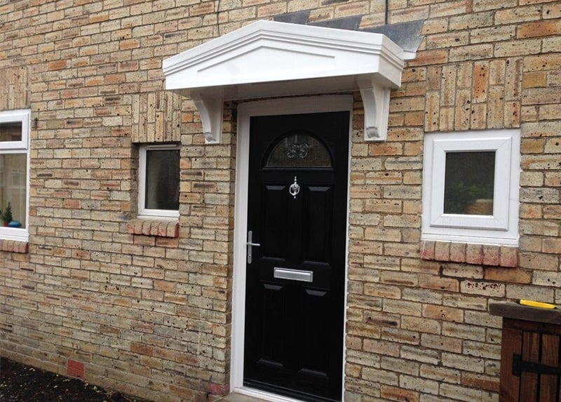 Our Over Door Canopies are more cost effective than a porch easy to install and bring instant character to your entranceway. & Over Door Canopies